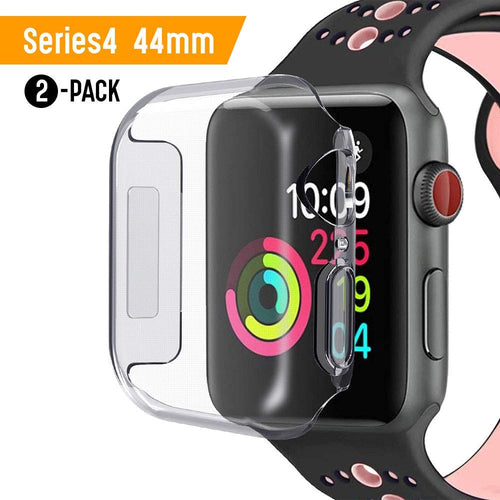 Apple Watch 44mm Screen Protector iWatch 4 case 2018 New Overall Protective Case TPU HD Clear Ultra-Thin Cover for Apple Watch Series 4 -Packs of 2