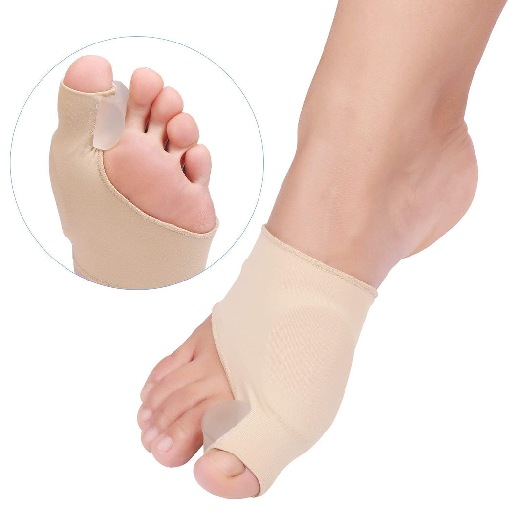Bunion Corrector Big Toe Straightener Bunion Pain Relief Sleeves Bunion Splint Support Protectors Sleeve with Built-in Silicone Gel Pad for Hallux Valgus Pain Relief  1 Pair