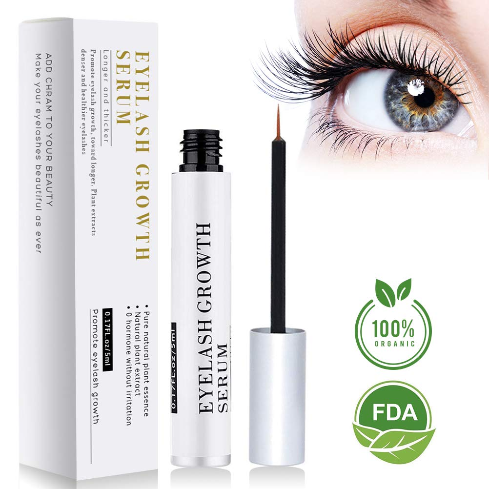 BreoLife Eyelash Growth Serum Eyebrow Enhancer (5ml) - Best Eyelash Growth Serum For Fuller & Thicker Lashes & Brows - Supports Eyelash Growth, Eyebrow Growth, Thinning Lashes, Supports Lash Boost - Perfectly Formulated For Results