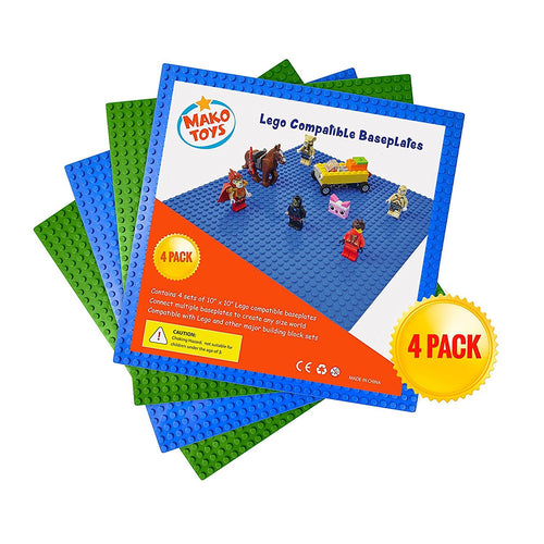 All Major Building Block Platforms Compatible Baseplates (4 pieces of 10