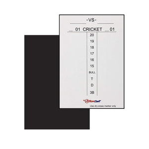 "Magnetic Dry Erase Scoreboard - Cricket and 01 Dart Games -14"" x 10"" - White with Black Frame"