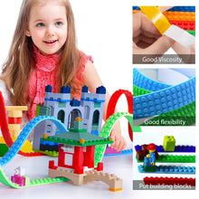 Load image into Gallery viewer, Basic Building Block Tape 100cm (3.2ft) Flexible - Cuttable - SELF-Adhesive - Reusable - Residue-Free - Silicone - Compatible with Lego - Endless Creativity - Also for Parents