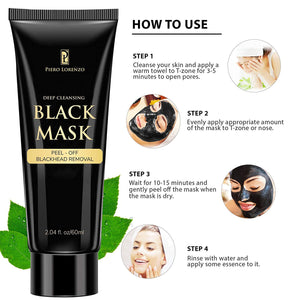 Blackhead Remover Black Mask Cleaner - Purifying Quality Black Peel off Charcoal Mask Best Facial Mask (2 Pack)