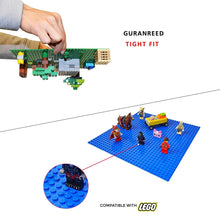 "Load image into Gallery viewer, Mako Toys Baseplates (4 pieces of 10"" x 10""), Works with Major Brick Building Sets, Wonderful Plate for Kids (Green)"