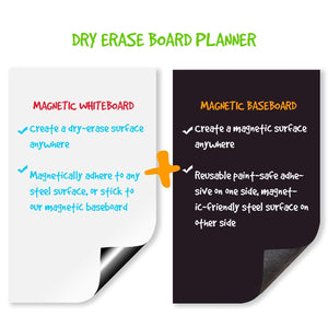 "Magnetic Refrigerator Calendar 17"" x 11"" Dry Erase Board Planner Calendar for Any Smooth Surface (1 Set)"