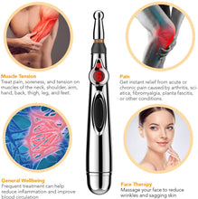 Load image into Gallery viewer, Acupuncture Pen, Electronic Acupuncture Pen for Pain Relief Therapy, Powerful Meridian Energy Pen Relief Pain Tools (3 Heads)