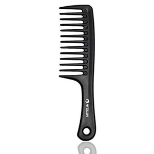 HYOUJIN Black Wide Tooth Comb Detangling Hair Brush,Paddle Hair Comb,Care Handgrip Comb-Best Styling Comb for Long Hair