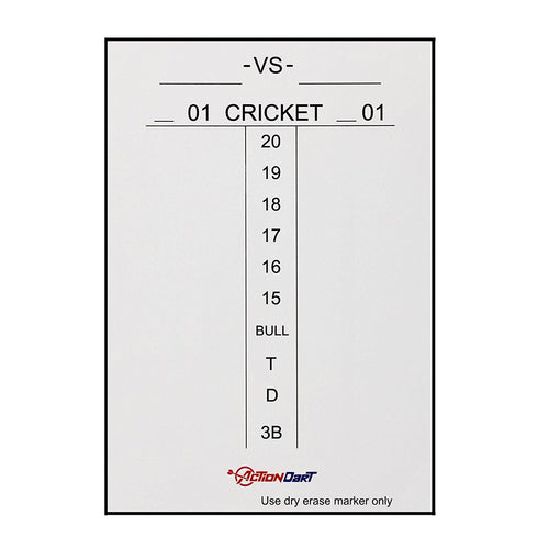 ActionDart Magnetic Dry Erase Scoreboard - Cricket and 01 Dart Games - 17