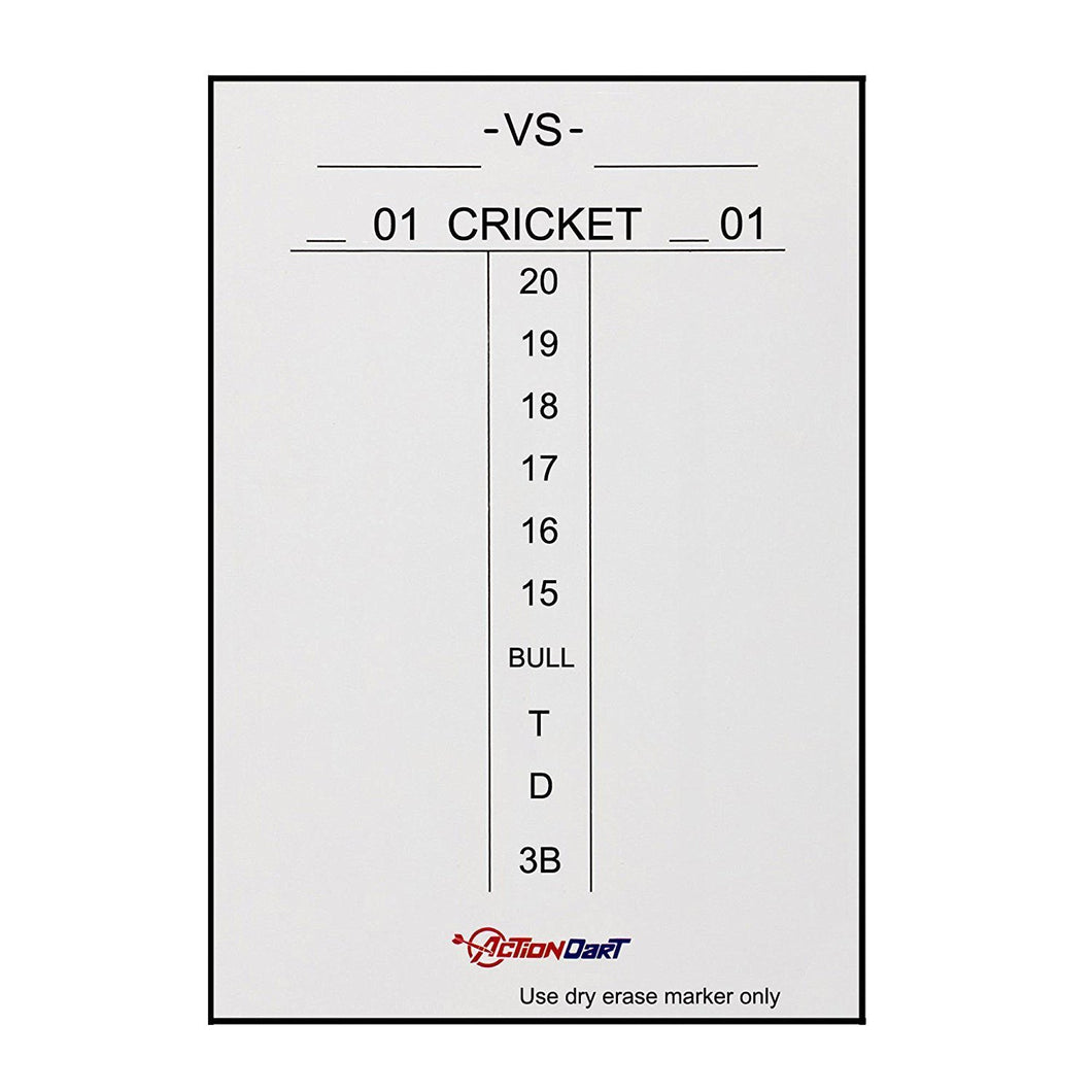 ActionDart Magnetic Dry Erase Scoreboard - Cricket and 01 Dart Games - 14