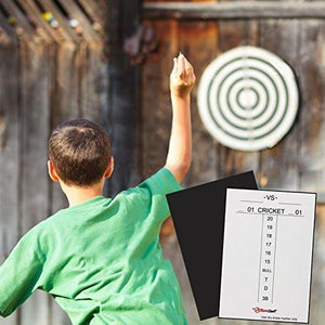 "ActionDart Magnetic Dry Erase Scoreboard - Cricket and 01 Dart Games - 14"" x 10"" - White with Black Frame"