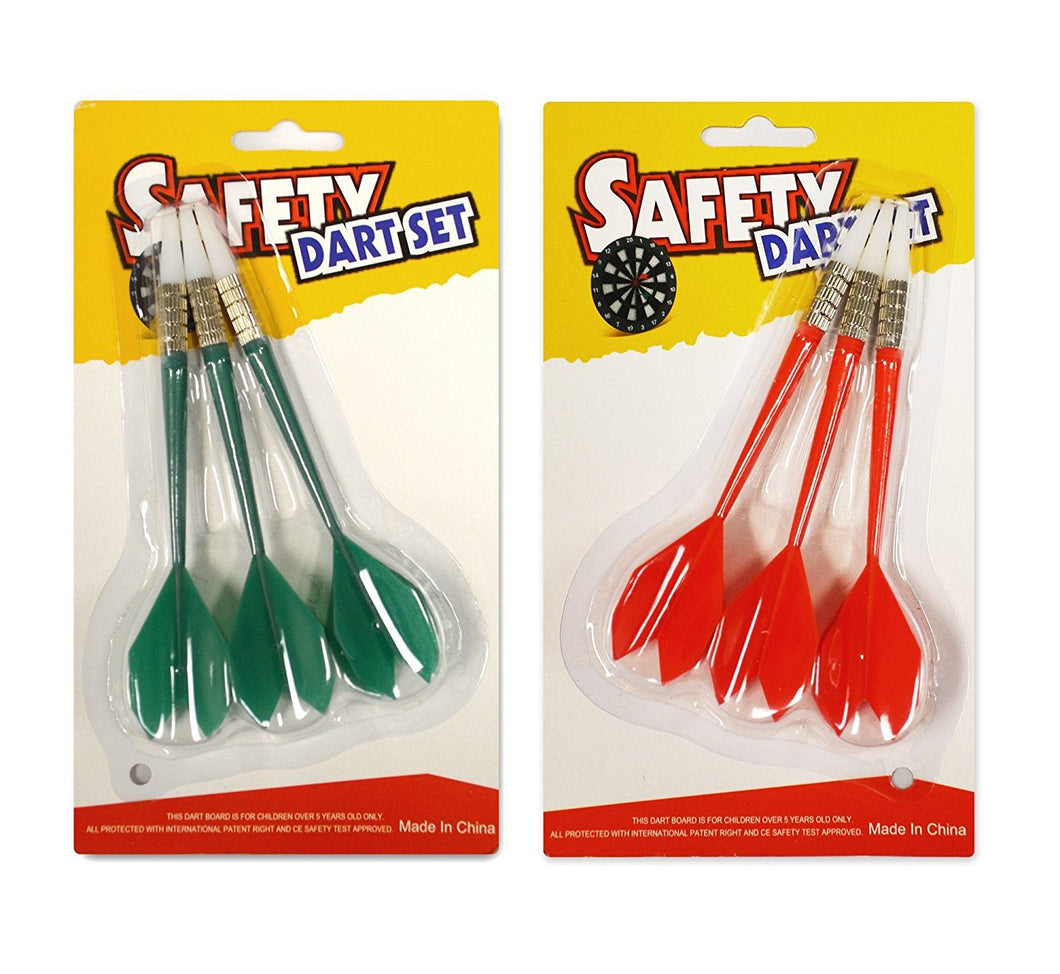Soft Tip Plastic Darts - Fit for ActionDart Safety Plastic Dartboard - 3 Darts Each in Green and Red (Red and Green)
