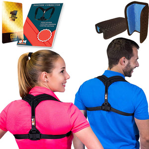 "Posture Corrector for Women & Men, Relieves Shoulders Pain, Corrects Slouching, Hunching & Bad Posture, Upper Back Brace for Clavicle Support, Chest 28""-48"""