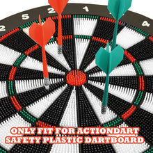 Load image into Gallery viewer, Soft Tip Plastic Darts - Fit for ActionDart Safety Plastic Dartboard - 3 Darts Each in Green and Red (Red and Green)