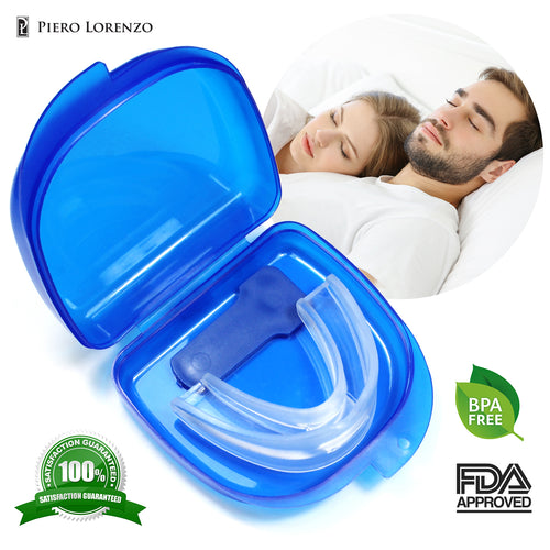 Breolife Best Anti Snoring Solution - Anti Snoring Mouthpiece - Anti Snoring Devices - Snore Stopper for Men and Women  - Sleep Aid Night Mouth Guard - Quiet Nights and Better Sleep