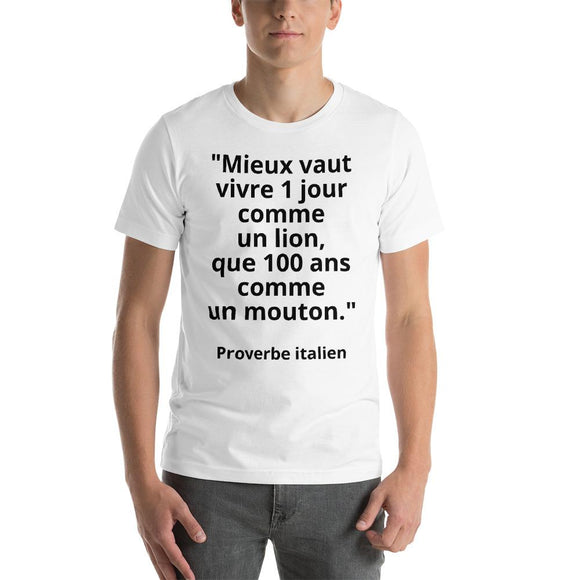 T-Shirt Homme Proverbe Italien