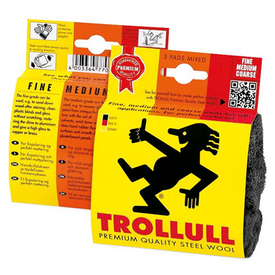 Trollull 3 Roll Steel Wool - Mixed