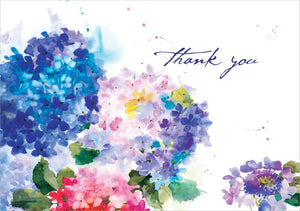 Hydrangeas Thank You Notes Cards