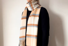 Load image into Gallery viewer, Classic Woollen Scarf - Fawn & Blue