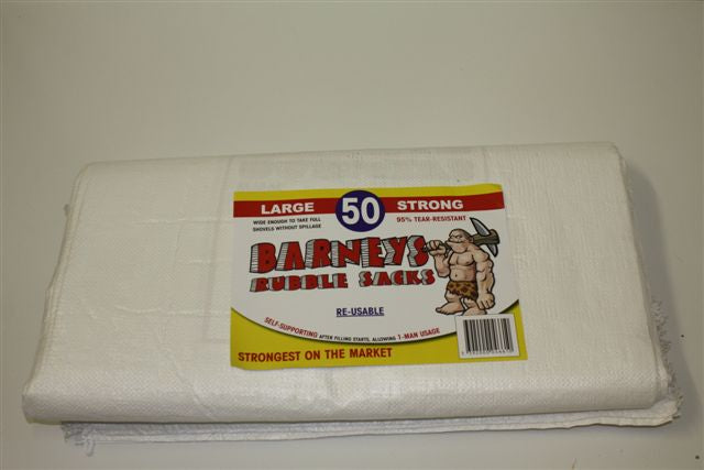 Barneys Re-Usable Rubble Sacks 600mm x 900mm 5Pk