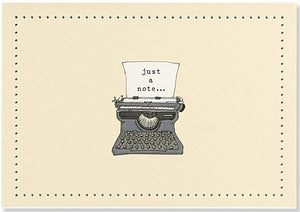 Typewriter Note Cards