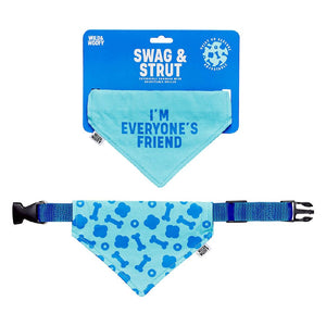"DOG ""I'M EVERYONE'S FRIEND"" REVERSIBLE BANDANA"