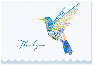 Watercolor Hummingbird Thank You Notes