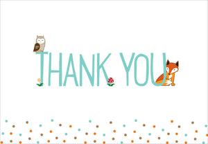 Woodland Friends Thank You Notes