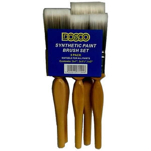 Dosco Synthetic Paint Brush Set - 5 Pack