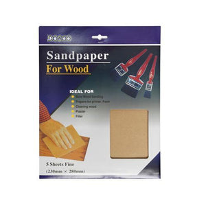 DOSCO Assorted Grades Sandpaper 5 Pack
