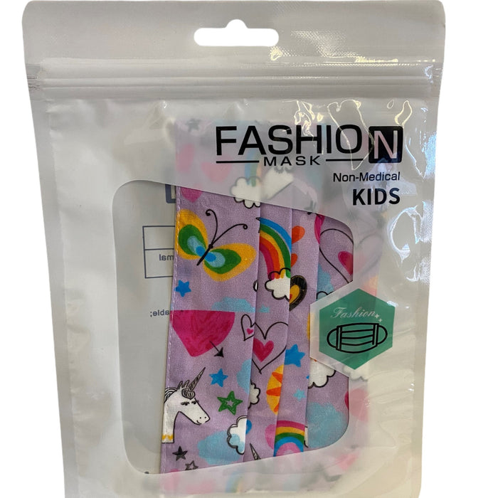 2 Layer Fashion Mask - Unicorn