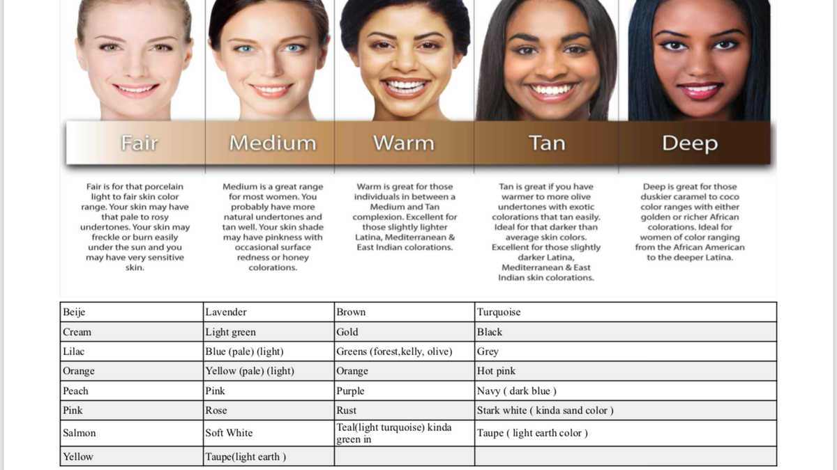 When Selecting A Scarf What Are The Good Colors For My Skin Tone