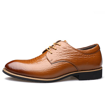 Men Oxfords Genuine Leather Men Dress Shoes