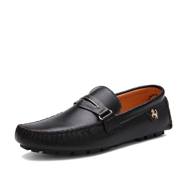 Genuine Leather Italian Fashion Men's Shoes Casual Luxury Brand Loafer shoes