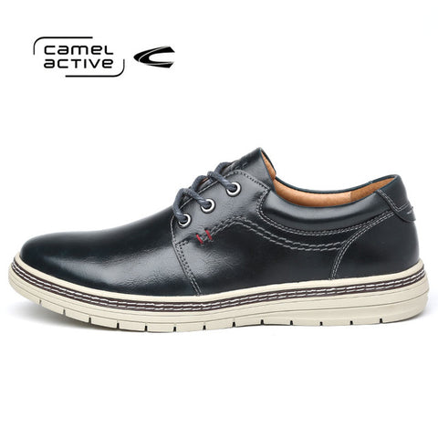 Camel Active Brand Men Genuine Leather Casual Shoes 2018