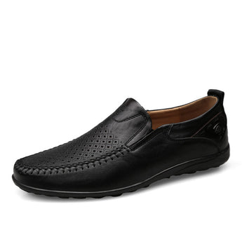 Italian Men Casual Shoes Summer Genuine Leather