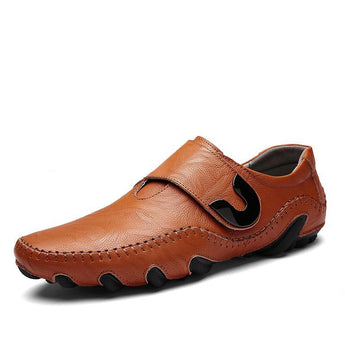Times New Roman Men's Shoes Genuine Leather Men Casual Shoes