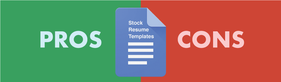 Stock Google Docs Resume Templates Pros and Cons