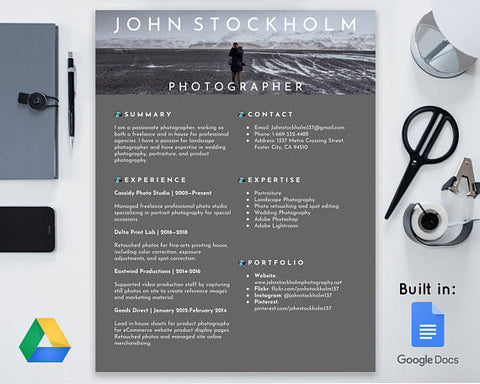 Google Docs Resume Template by ModernTasteDesigns