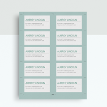 Load image into Gallery viewer, Aubrey Lincoln | Google Docs Professional Business Cards Template - MioDocs