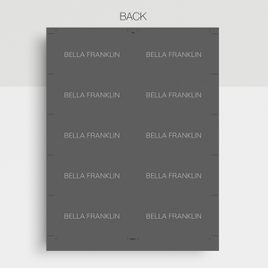 Bella Franklin | Google Docs Professional Business Cards Template - MioDocs