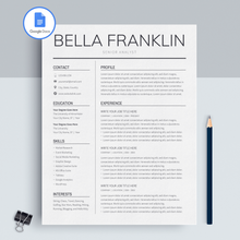 Load image into Gallery viewer, Bella Franklin | Google Docs Resume Template | CV Template