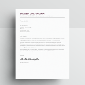 Martha Washington | Google Docs Resume Template | CV Template - MioDocs