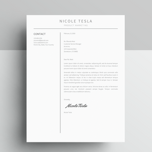Google Docs Resume and Cover Letter Template