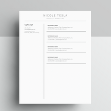 Load image into Gallery viewer, Nicole Tesla | Google Docs Resume Template | CV Template - MioDocs