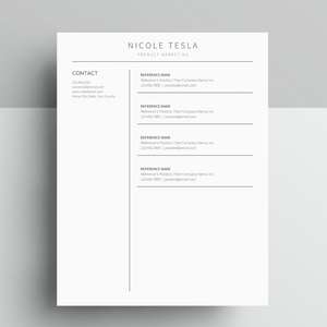 Google Docs Resume and Reference Sheet Template