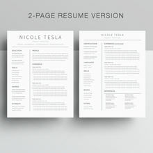 Load image into Gallery viewer, 2 Page Google Docs Resume Template