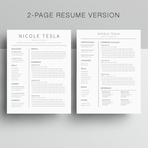 2 Page Google Docs Resume Template