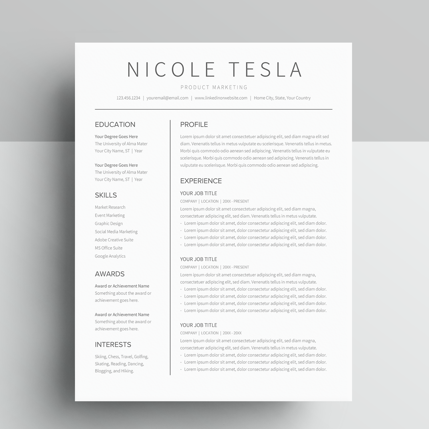Google Docs Resume Template Cv Template Nicole Tesla Miodocs While most of the service is quite straightforward and streamlined, things such as deleting a page appear. google docs resume template cv