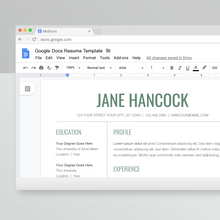 Load image into Gallery viewer, Jane Hancock | Google Docs Resume Template | CV Template - MioDocs