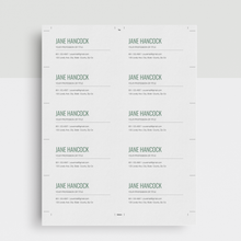 Load image into Gallery viewer, Jane Hancock | Google Docs Professional Business Cards Template